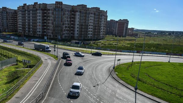 Дорожная развязка в Москве. Архивное фото