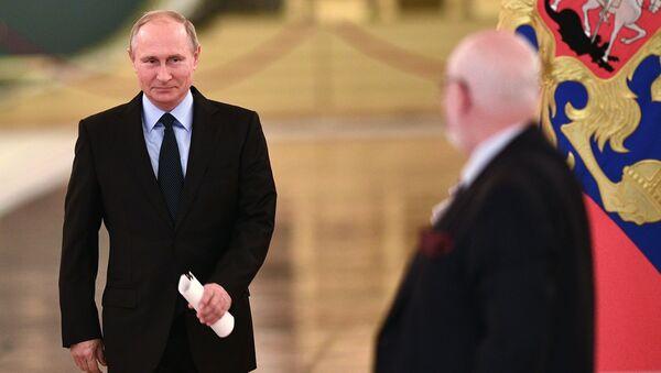 Президент РФ Владимир Путин во время встречи с членами Совета по развитию гражданского общества и правам человека. 30 октября 2017