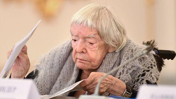 Председатель Московской Хельсинкской группы Людмила Алексеева на заседании Совета при президенте РФ по развитию гражданского общества и правам человека. 30 октября 2017
