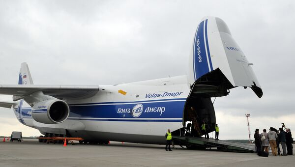 Самолет АН-124-100 Руслан авиакомпании Волга-Днепр. Архивное фото