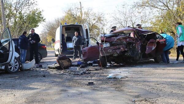 ДТП под Керчью со столкновением двух машин. 4 ноября 2017