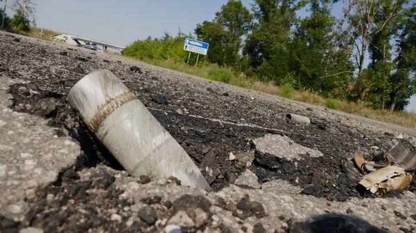 Снаряд на территории территорию Донецкой фильтровальной станции