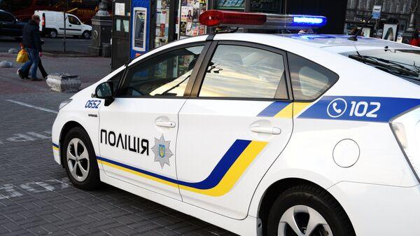 Автомобиль украинской полиции в Киеве