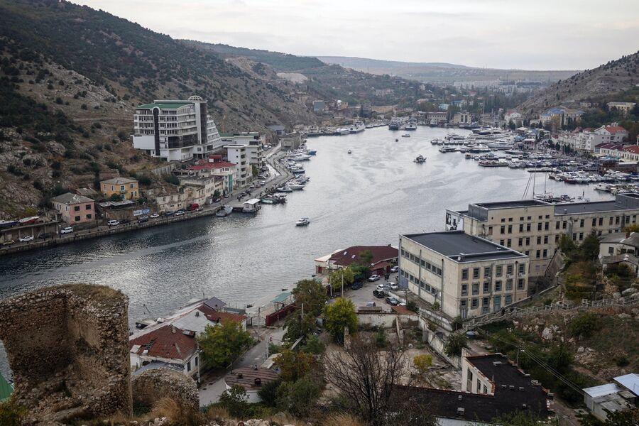Бухта города Балаклавы в Крыму