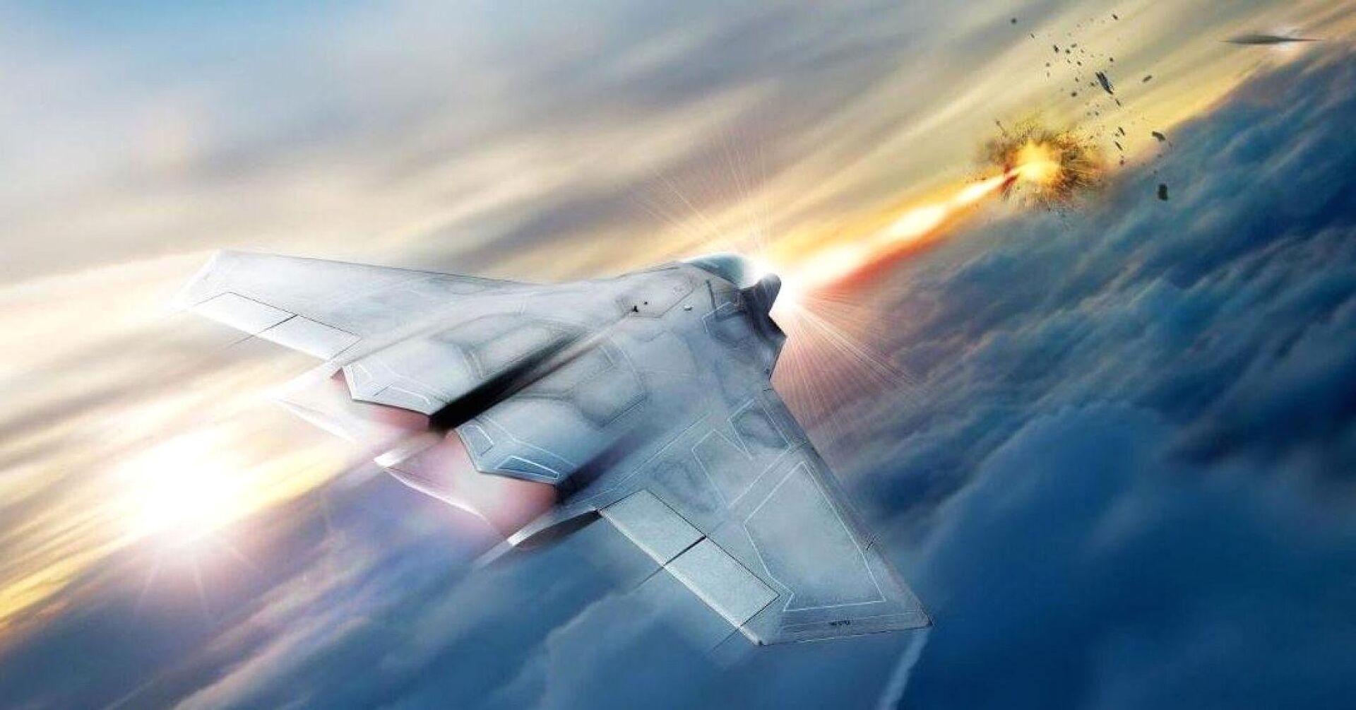Концепт истребителя, оснащенного лазерным оружием - РИА Новости, 1920, 03.03.2021