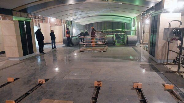 Строительство станции метро в Москве