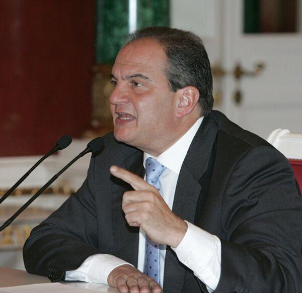 Бывший премьер-министр Греции Константинос Караманлис. Архив