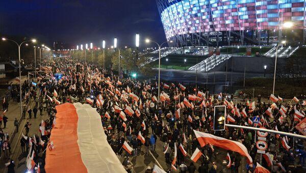 Марш в Варшаве по случаю Дня независимости. Архивное фото