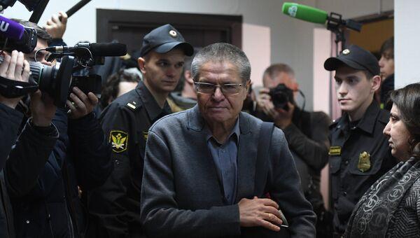 Экс-министр экономического развития Алексей Улюкаев на заседании Замоскворецкого суда. 13 ноября 2017