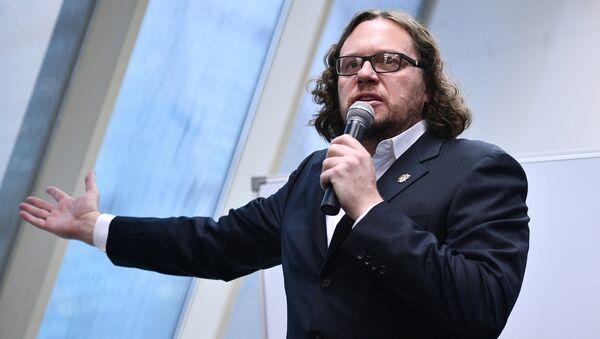 Бизнесмен Сергей Полонский на пресс-конференции в Москве. Архивное фото