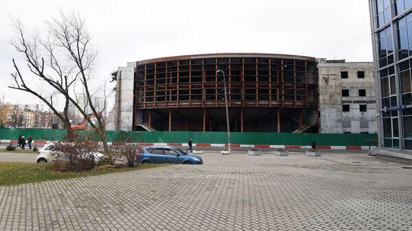 Реконструируемое здание театра Сатирикон имени Аркадия Райкина