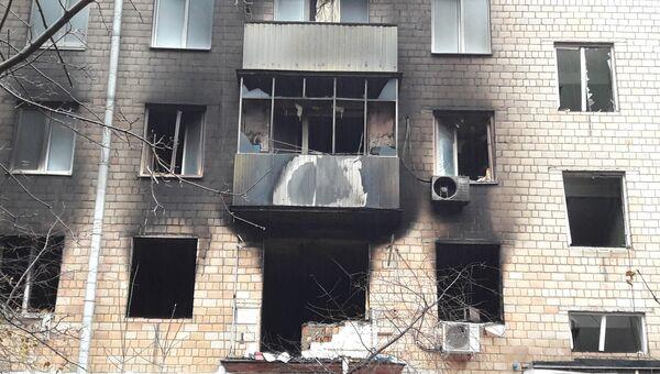 Последствия пожара в пятиэтажном жилом доме на проспекте Мира в Химках. 16 ноября 2017