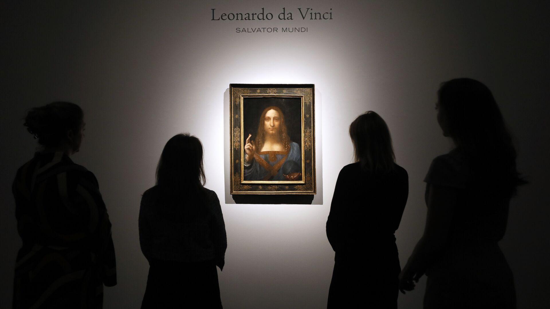 Картина Леонардо да Винчи Спаситель мира на аукционе Christie's в Лондоне. 24 октября 2017 - РИА Новости, 1920, 07.01.2020
