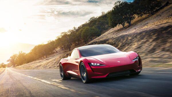 Автомобиль Tesla Roadster 2. Архивное фото