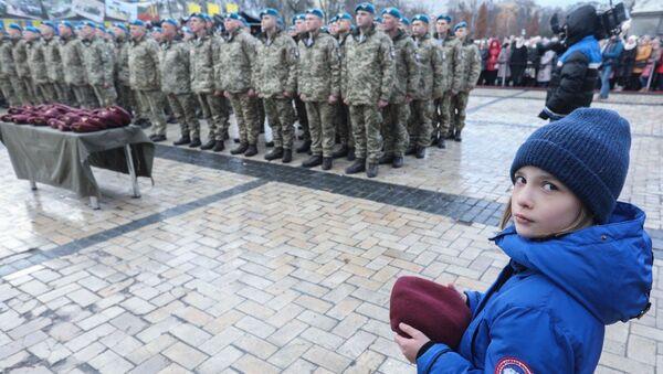 Церемония переименования Высокомобильных десантных войск в Десантно-штурмовые войска и установление Дня десантно-штурмовых войск ВСУ. 21 ноября 2017