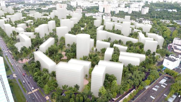 Концепция площадки реновации в Головинском районе от бюро Цимайло, Ляшенко и партнеры. Архивное фото