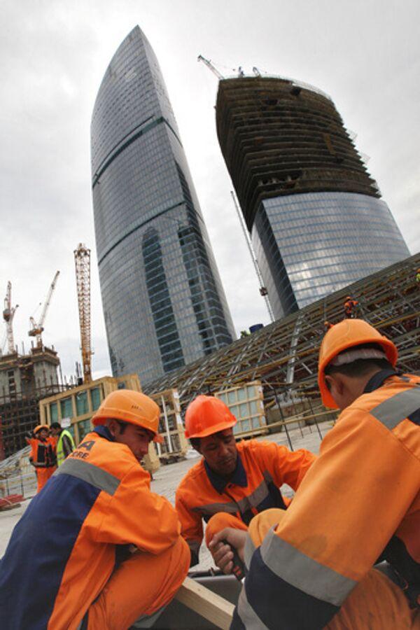 Строительство Московского международного делового центра Москва-Сити. Архив