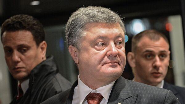 Президент Украины Петр Порошенко перед началом съезда Европейской народной партии в Брюсселе. 24 ноября 2017