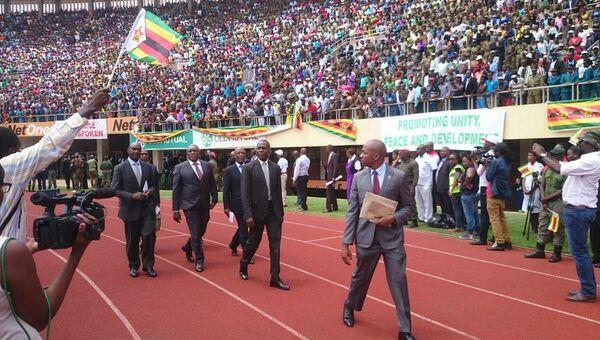 Церемония инаугурации нового президента Зимбабве Эммерсона Мнангагвы в Хараре. 24 ноября 2017