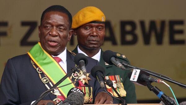 Эммерсон Мнангагва на церемонии инаугурации в Хараре, Зимбабве. 24 ноября 2017