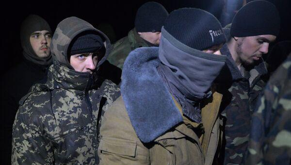 Обмен пленными между ополченцами ДНР, ЛНР и украинскими силовикам. Архивное фото