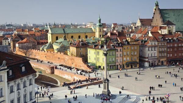 Центр города в Варшаве, Польша. Архивное фото