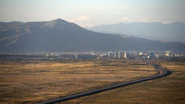 Вид на город Кызыл в Республике Тыва
