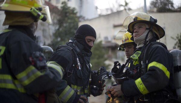 Израильские пожарные. архивное фото