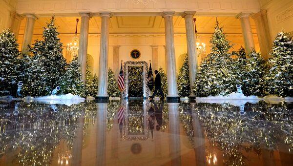 Рождественские и новогодние украшения в Белом доме