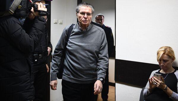 Экс-министр экономического развития Алексей Улюкаев в Замоскворецком суде во время слушаний по его делу. 4 декабря 2017