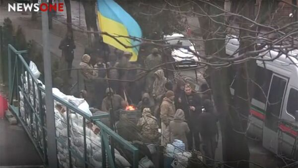 Ситуация у здания телеканала NewsOne в Киеве