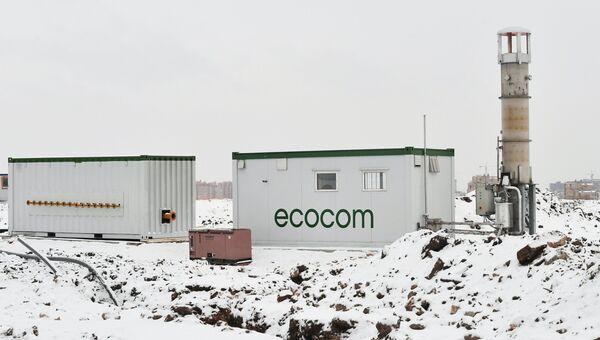 Высокотемпературная факельная и компрессорная установки для утилизации свалочного газа на полигоне твердых бытовых отходов Кучино