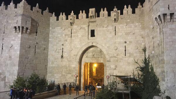 Арабская забастовка в Иерусалиме. Архивное фото