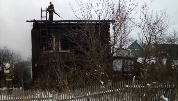 Пожар в деревне Федоровское Тверской области. 10 декабря 2017