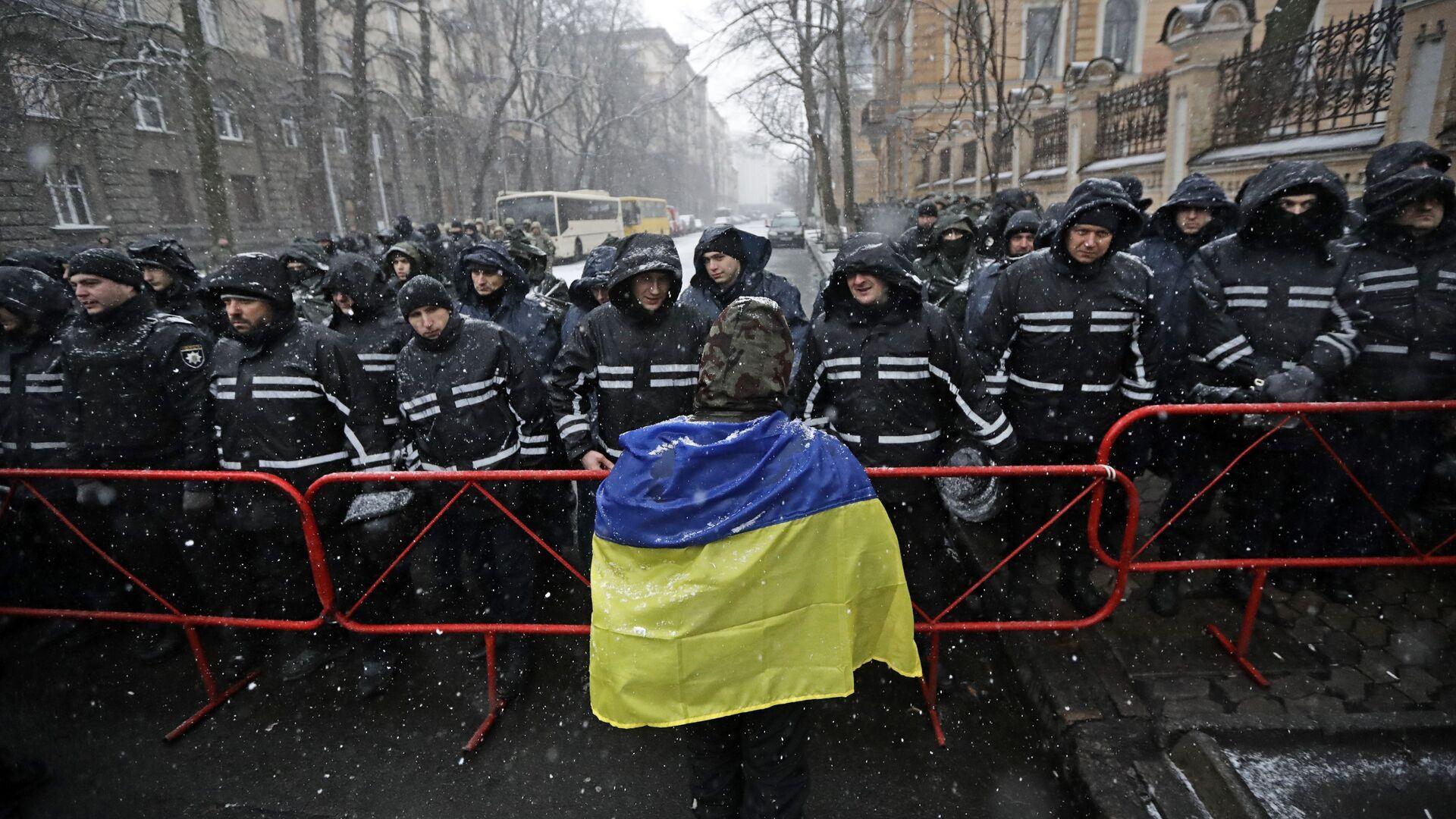 Участник акции протеста в Киеве - РИА Новости, 1920, 11.11.2019