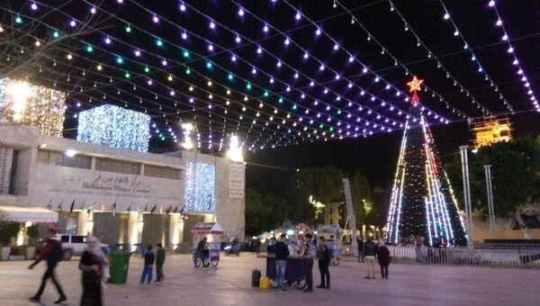 Елка в центре палестинского города Вифлеем