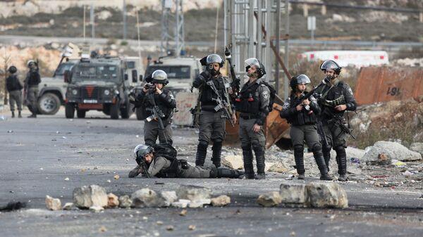 Сотрудники пограничной службы Израиля. Архивное фото