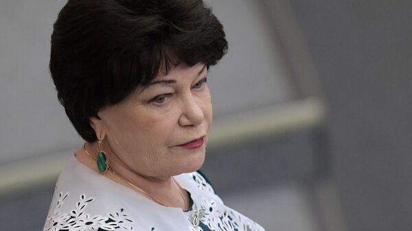 Председатель комитета Государственной Думы РФ по вопросам семьи, женщин и детей Тамара Плетнева