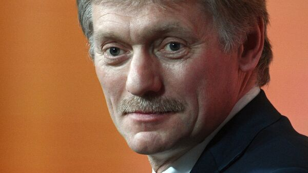 Дмитрий Песков во время ежегодной большой пресс-конференции президента РФ Владимира Путина