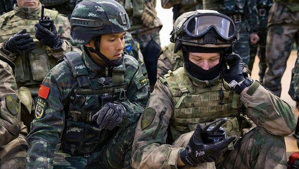 Совместные учения Росгвардии и Народной вооруженной полиции Китая Сотрудничество-2017