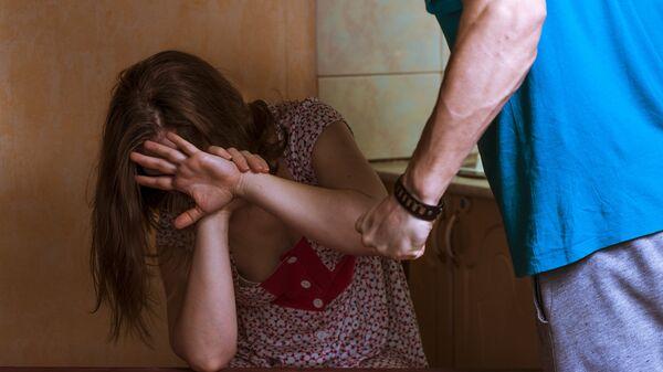 Жертва домашнего насилия. Архивное фото