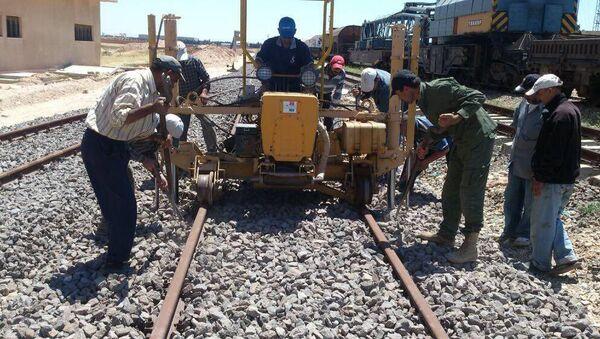Работы на железной дороге в Сирии. Архивное фото