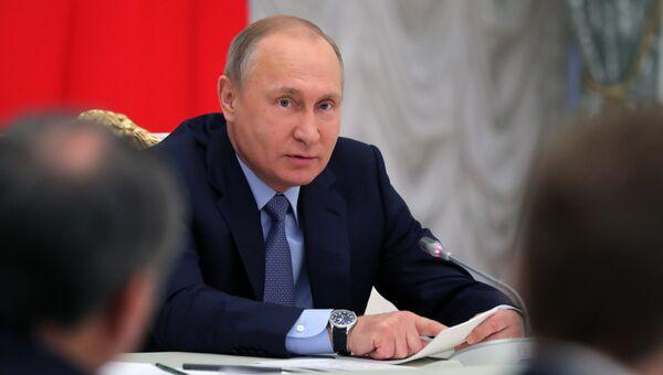 Президент РФ Владимир Путин на заседании Совета по стратегическому развитию и приоритетным проектам. 20 декабря 2017