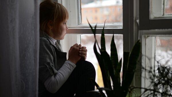 Воспитанница детского дома. Архивное фото