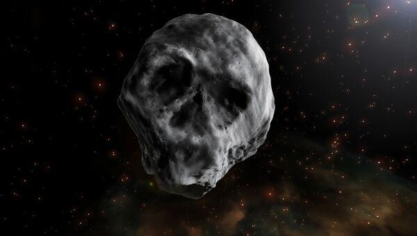 Хэллоуинский астероида 2015 TB145 в виде черепа
