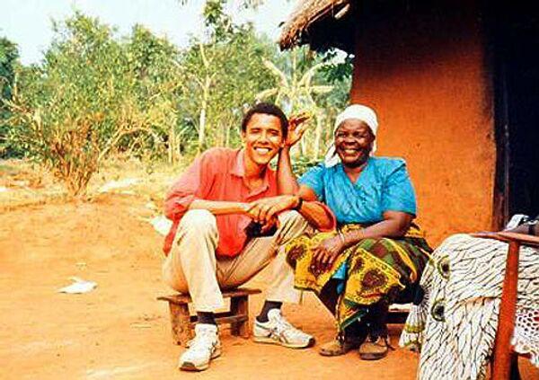 Барак Обама со своей бабушкой