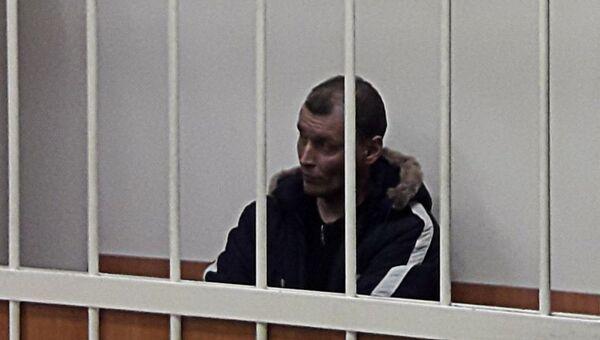 Дмитрий Лукьяненко, обвиняемый в организации взрыва в магазине Перекресток на Кондратьевском проспекте, на заседании Калининского суда Санкт-Петербурга. 31 декабря 2017