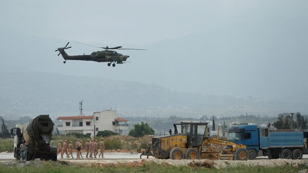 Российский вертолет в Сирии