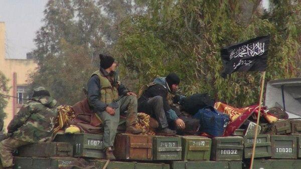 Боевики террористической группировки Джебхат ан-Нусра в провинции Идлиб