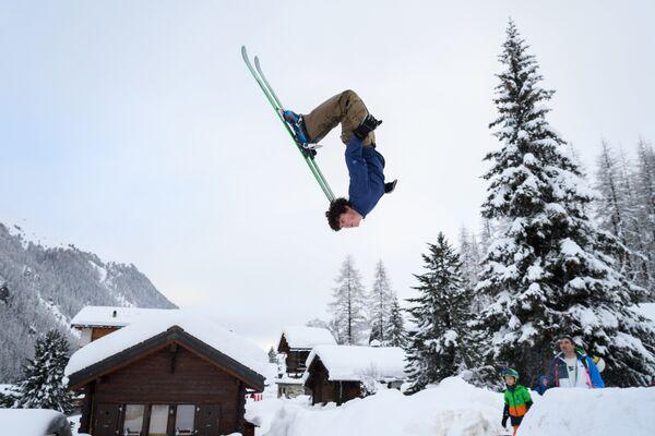 Курорт Зинал в Швейцарских Альпах